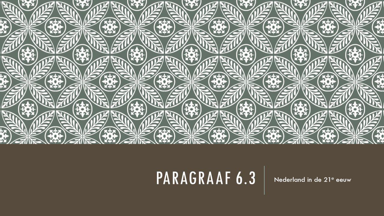 PARAGRAAF 6.3 Nederland in de 21 e eeuw
