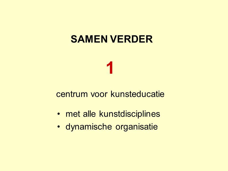 SAMEN VERDER 1 centrum voor kunsteducatie met alle kunstdisciplines dynamische organisatie