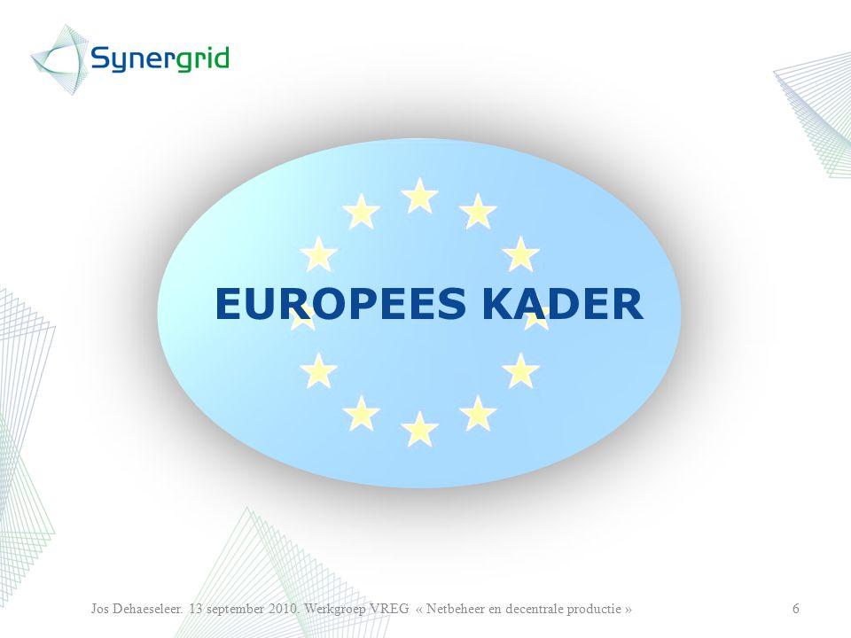 EUROPEES KADER 6Jos Dehaeseleer.13 september 2010.