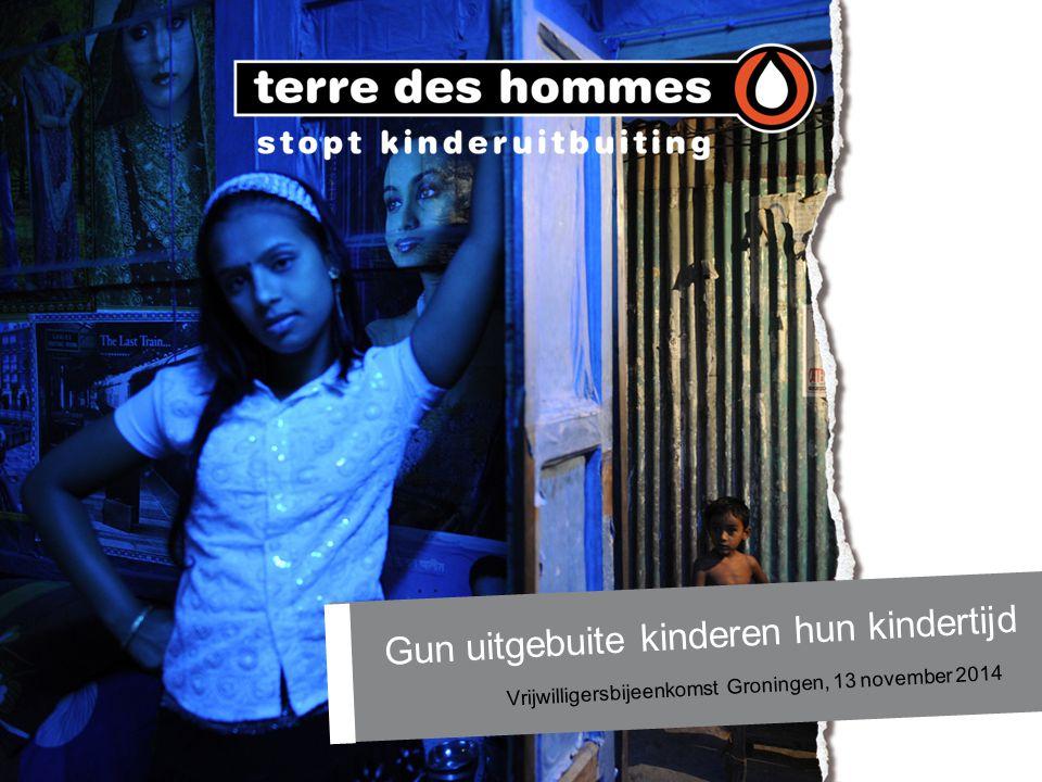 Gun uitgebuite kinderen hun kindertijd Vrijwilligersbijeenkomst Groningen, 13 november 2014