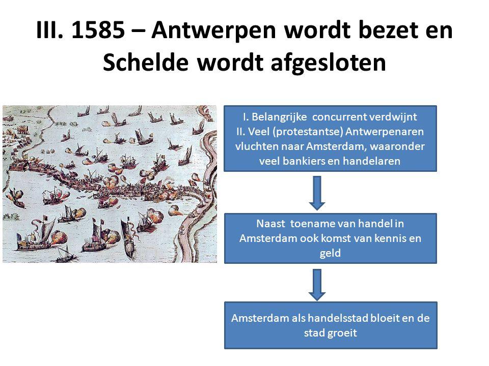 III.1585 – Antwerpen wordt bezet en Schelde wordt afgesloten I.