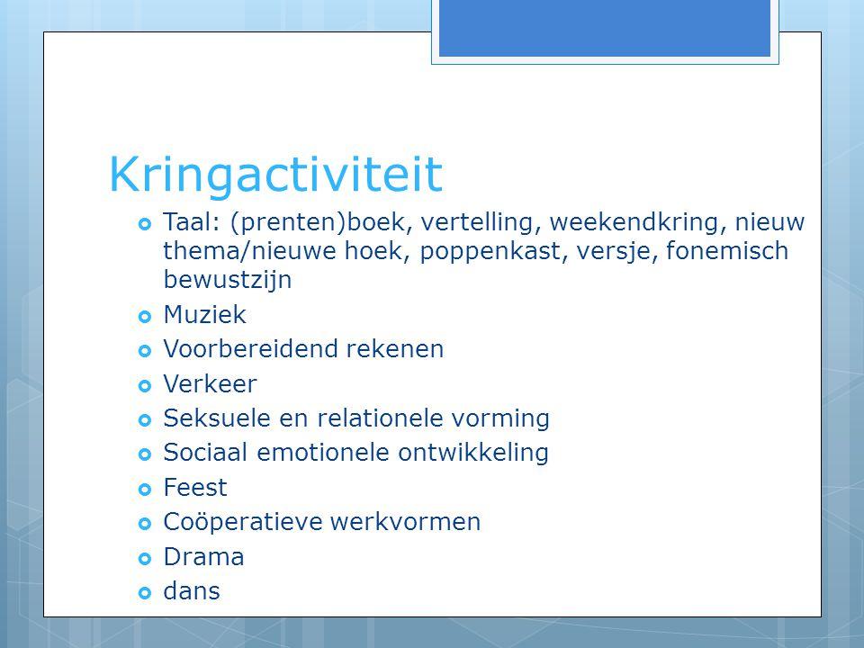 Observatie/ registratie  open deur  Kennismaking (intake), entreegesprekken (na ong.
