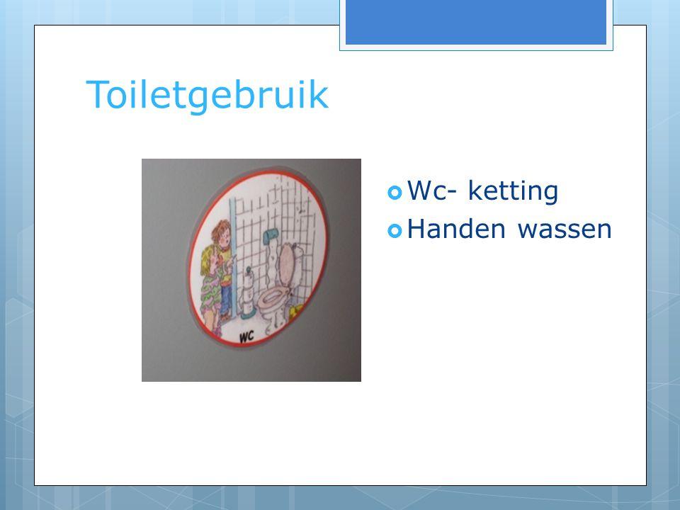 Toiletgebruik  Wc- ketting  Handen wassen