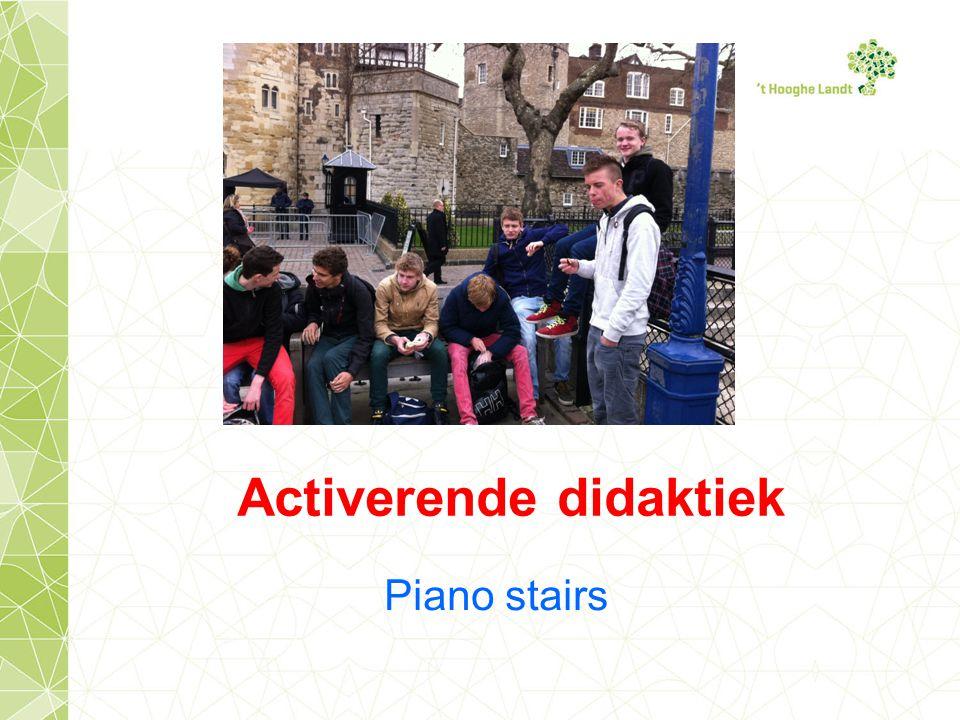 Piano stairs Activerende didaktiek