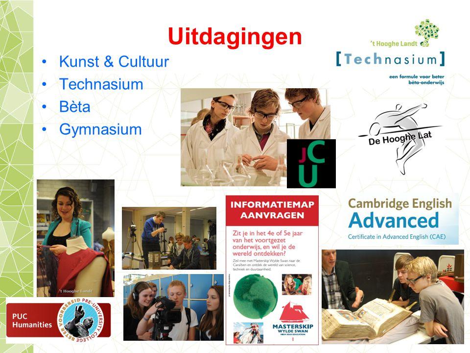Uitdagingen Kunst & Cultuur Technasium Bèta Gymnasium