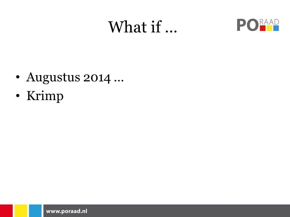 What if … Augustus 2014 … Krimp