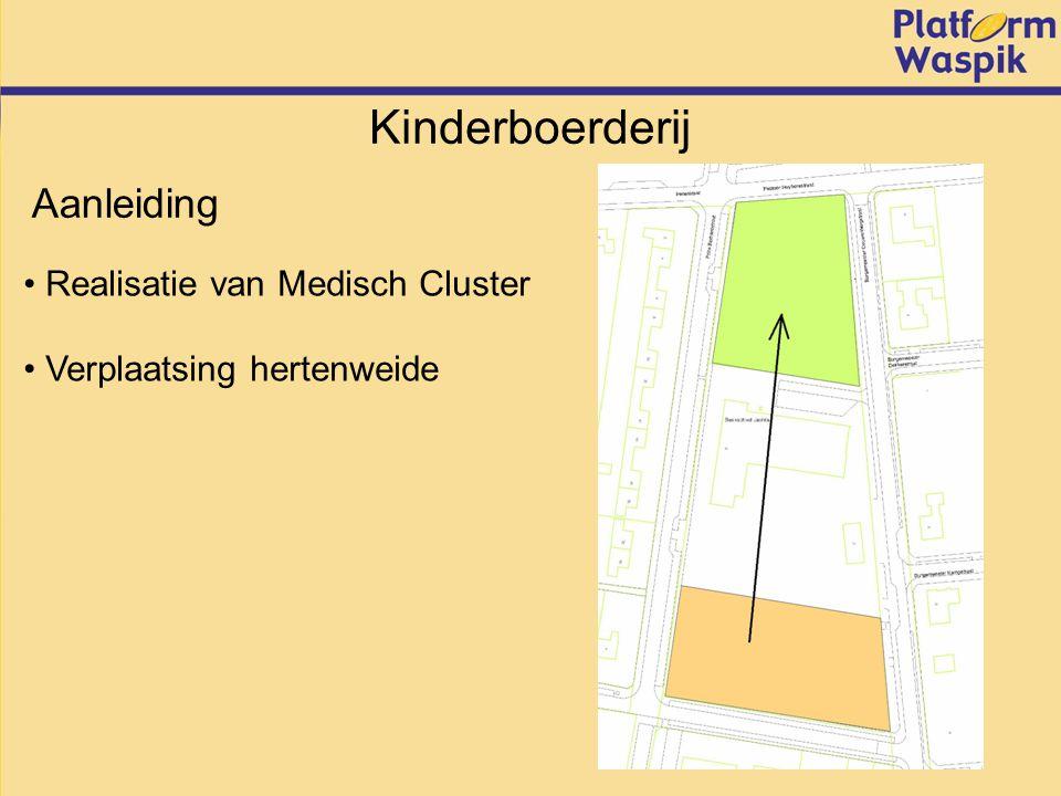 Kinderboerderij Realisatie van Medisch Cluster Verplaatsing hertenweide Aanleiding