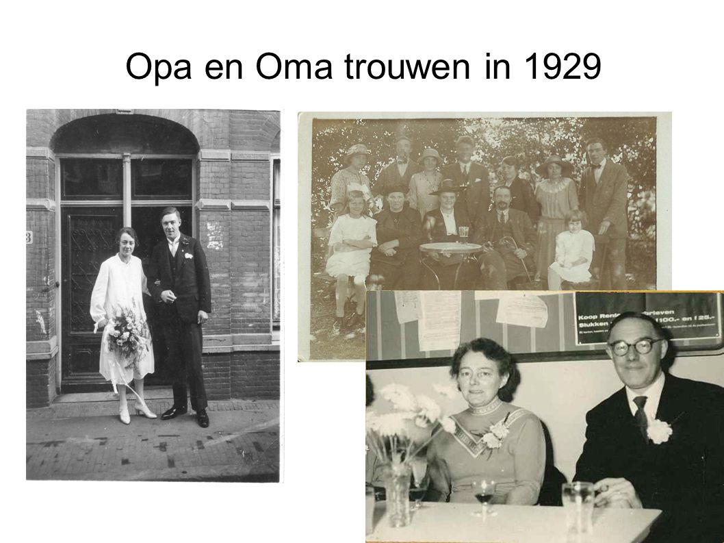 Opa en Oma trouwen in 1929