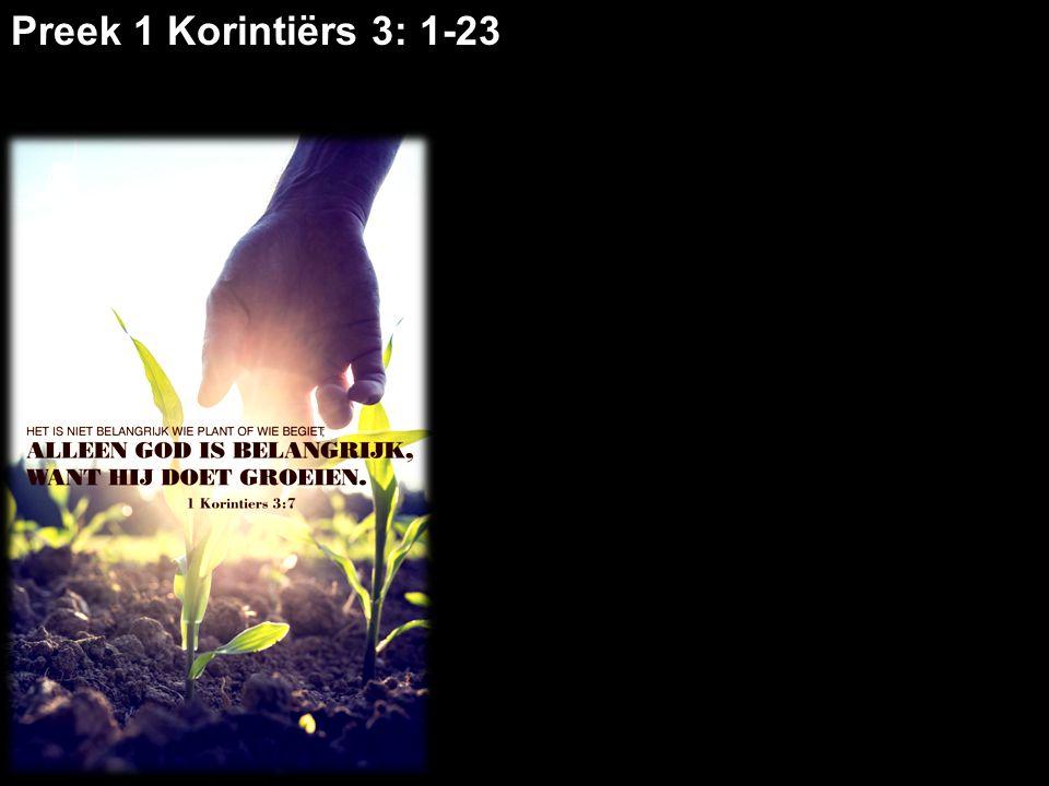 God geeft groei In Korinte was sprake van egoïsme, partijvorming, verdeeldheid, jaloezie 'Ik ben van Paulus!' 'Ik ben van Apollos!' 'Ik ben van Kefas!' Problemen vanaf het ontstaan van de gemeente (vs.