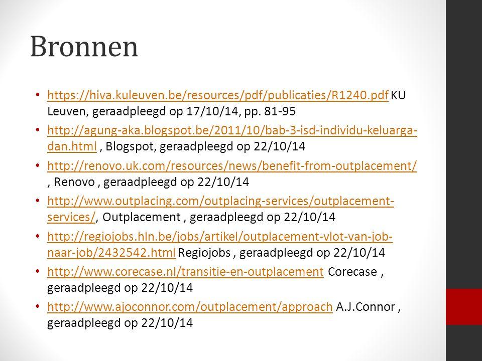 Bronnen https://hiva.kuleuven.be/resources/pdf/publicaties/R1240.pdf KU Leuven, geraadpleegd op 17/10/14, pp.