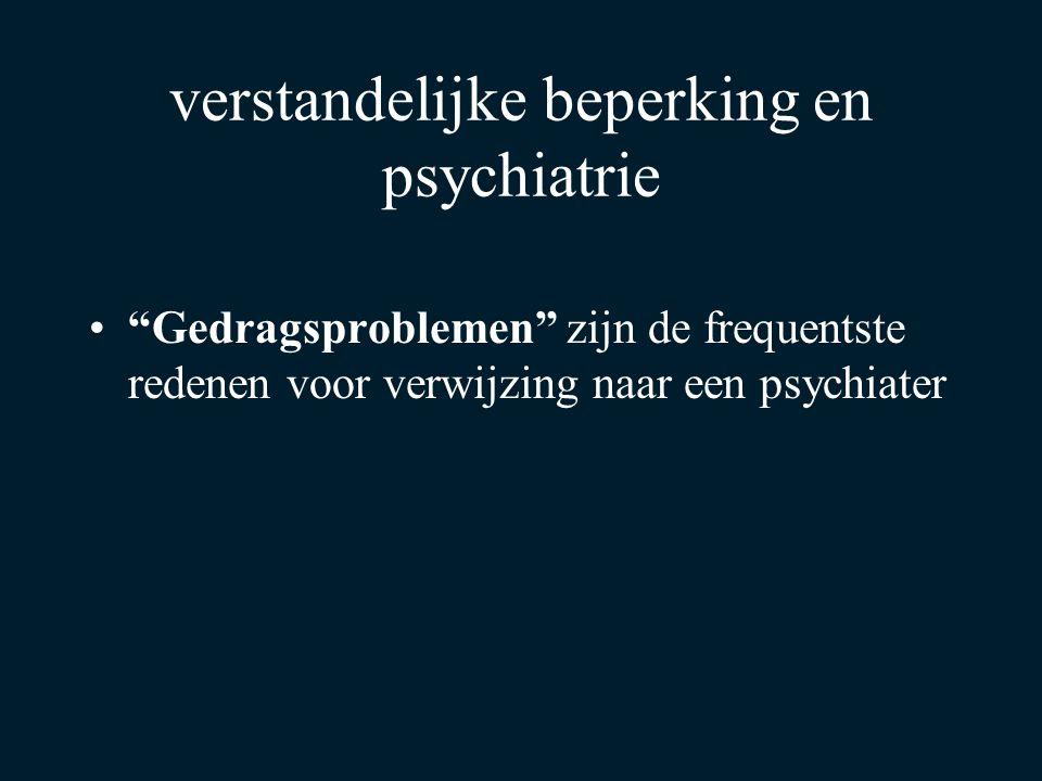 """""""Gedragsproblemen"""" zijn de frequentste redenen voor verwijzing naar een psychiater verstandelijke beperking en psychiatrie"""