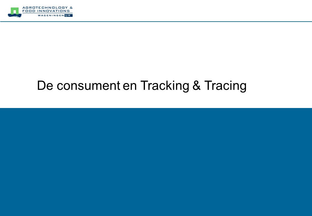De consument en Tracking & Tracing
