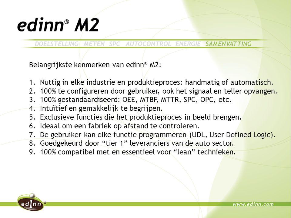Belangrijkste kenmerken van edinn ® M2: 1.Nuttig in elke industrie en produktieproces: handmatig of automatisch.