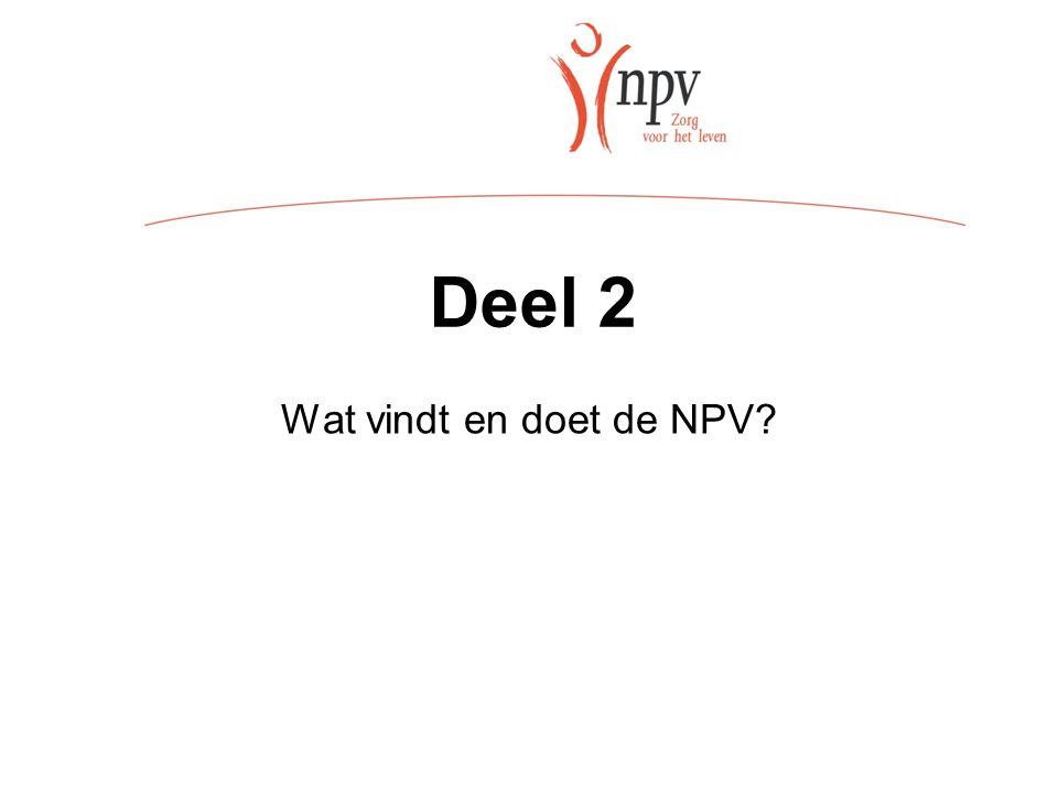 Deel 2 Wat vindt en doet de NPV
