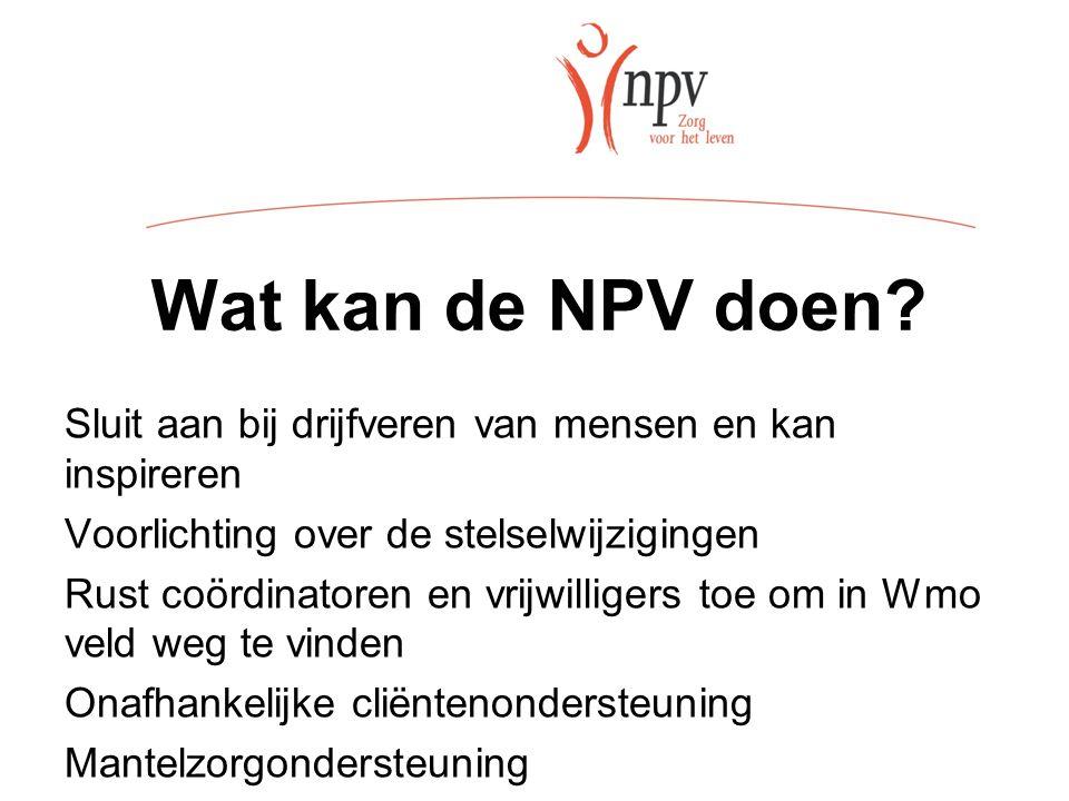 Wat kan de NPV doen.