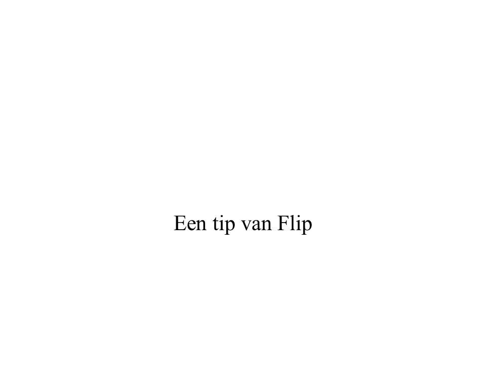 Een tip van Flip