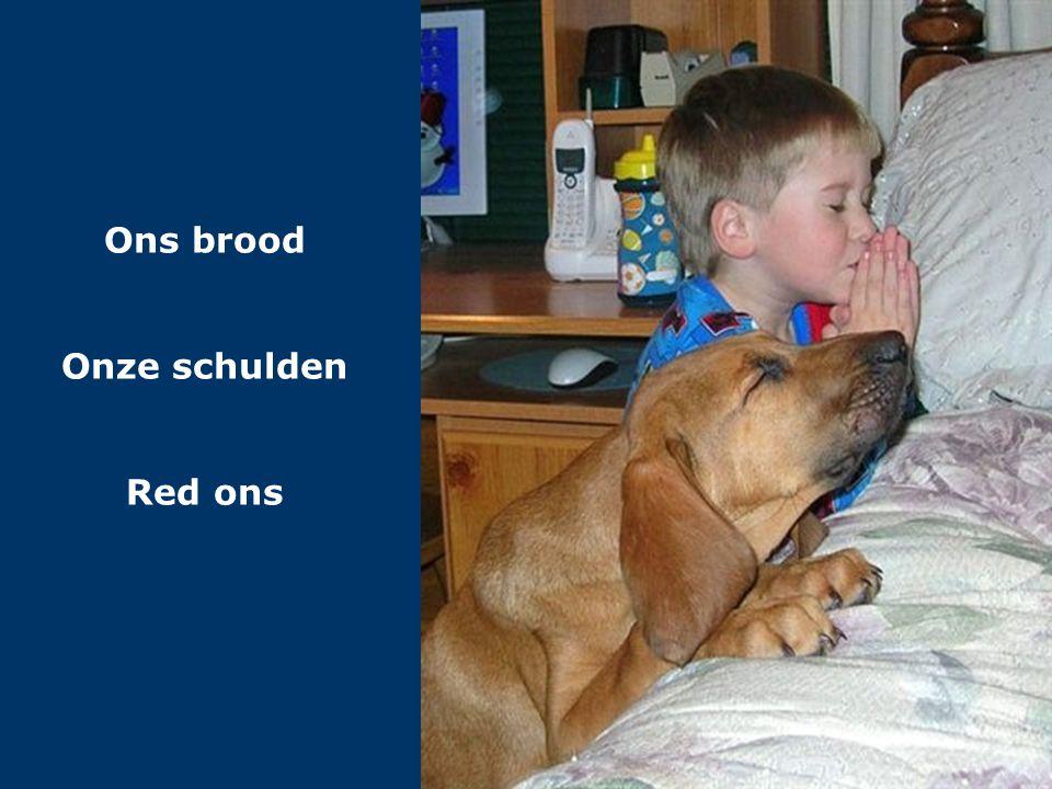 Ons brood Onze schulden Red ons