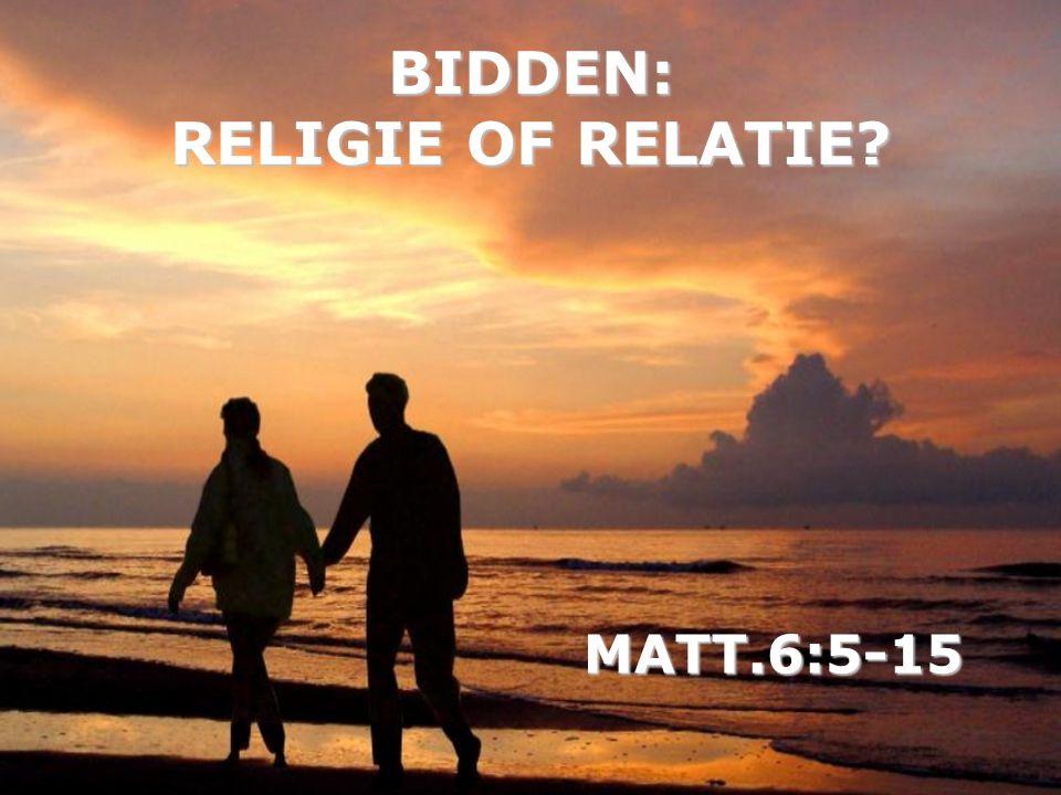 Bidden is niet: - een christelijke plicht - je zin proberen te krijgen - God informatie verschaffen - veel woorden gebruiken - afhankelijk v.