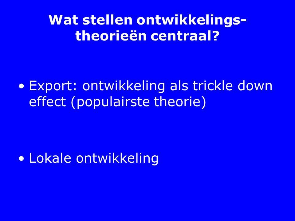 Wat stellen ontwikkelings- theorieën centraal.
