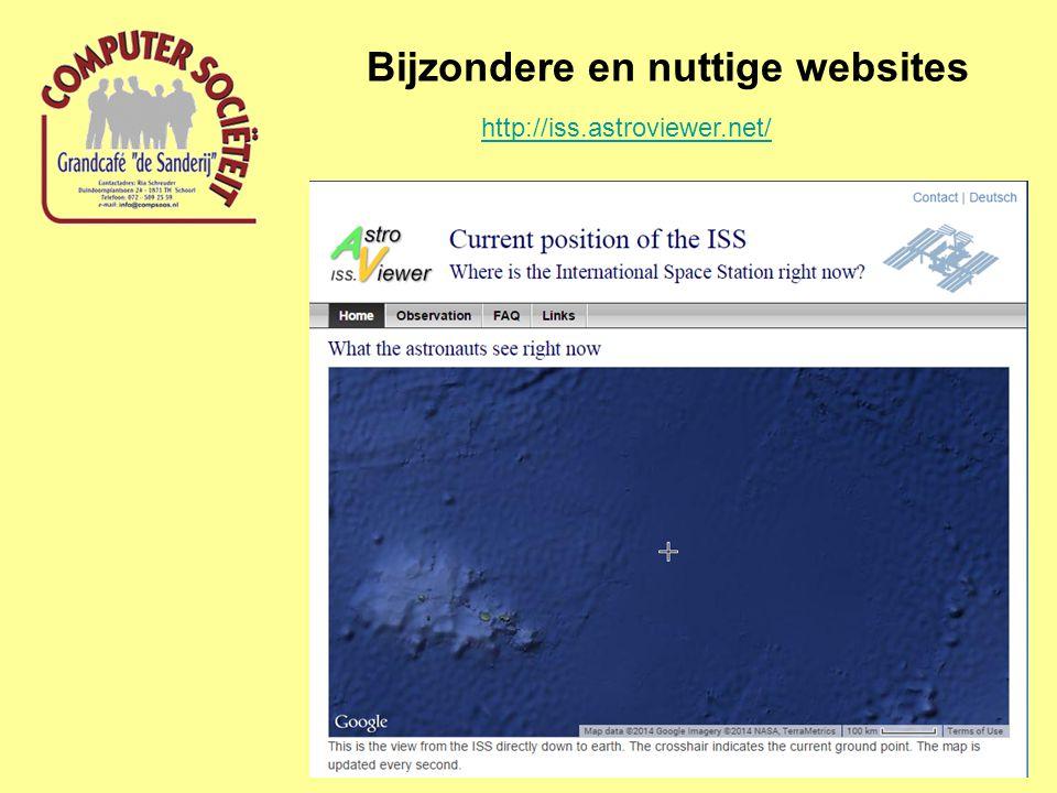 Bijzondere en nuttige websites http://iss.astroviewer.net/