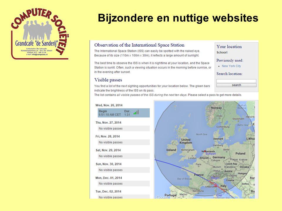 Bijzondere en nuttige websites