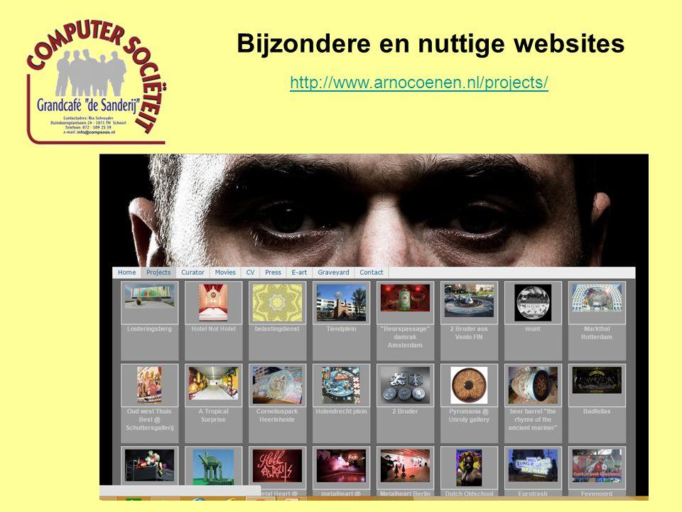 Bijzondere en nuttige websites http://www.arnocoenen.nl/projects/