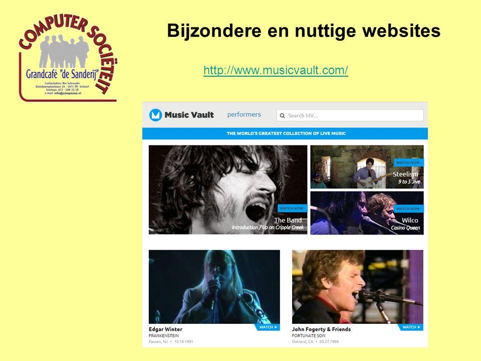 Bijzondere en nuttige websites http://www.musicvault.com/