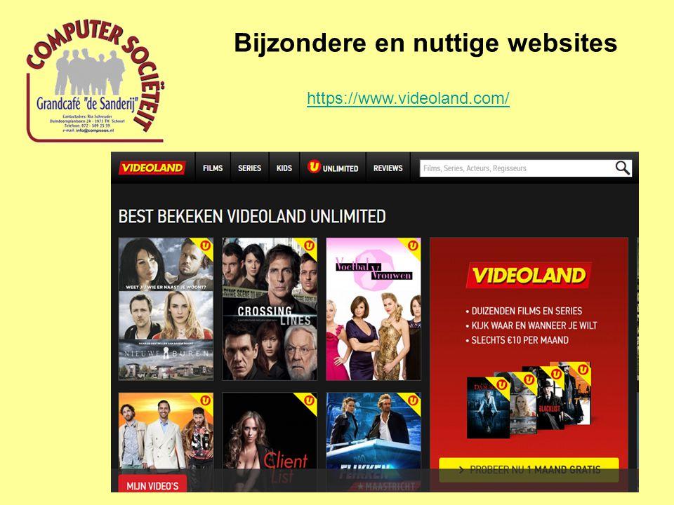 Bijzondere en nuttige websites https://www.videoland.com/
