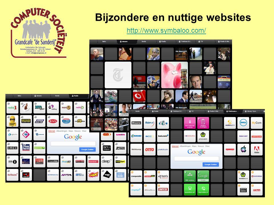 Bijzondere en nuttige websites http://www.symbaloo.com/
