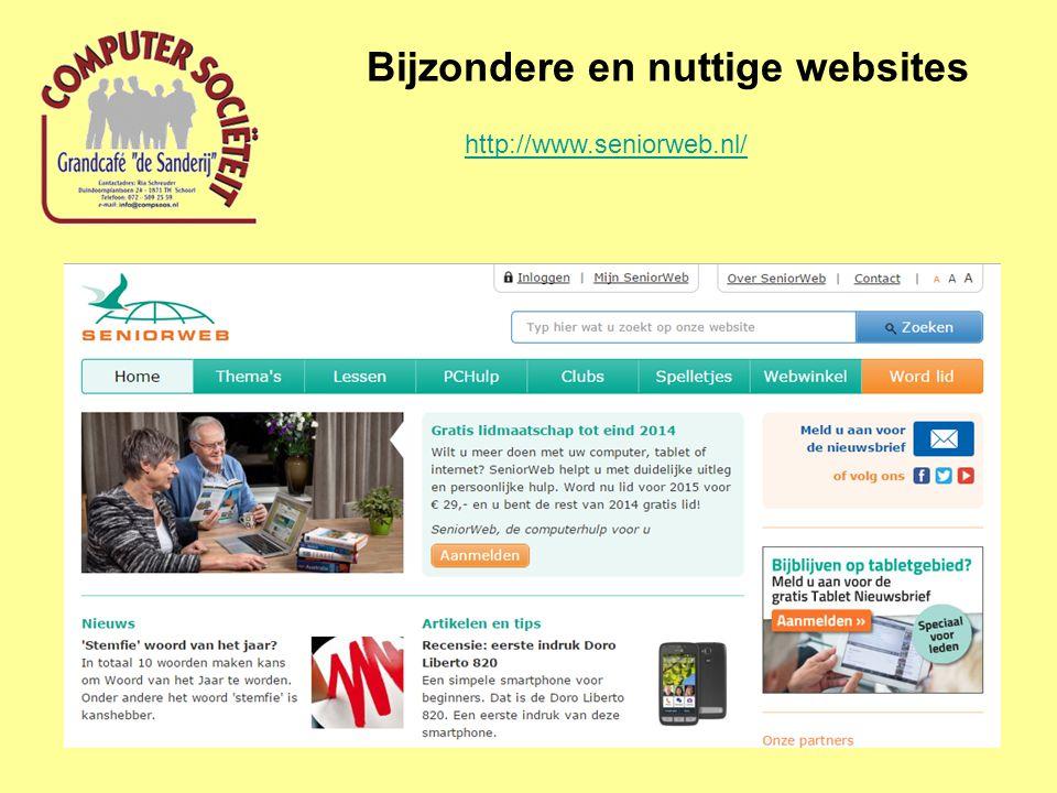 Bijzondere en nuttige websites http://www.seniorweb.nl/