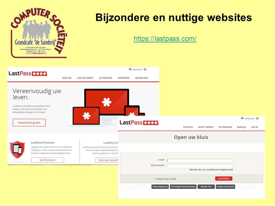 Bijzondere en nuttige websites https://lastpass.com/