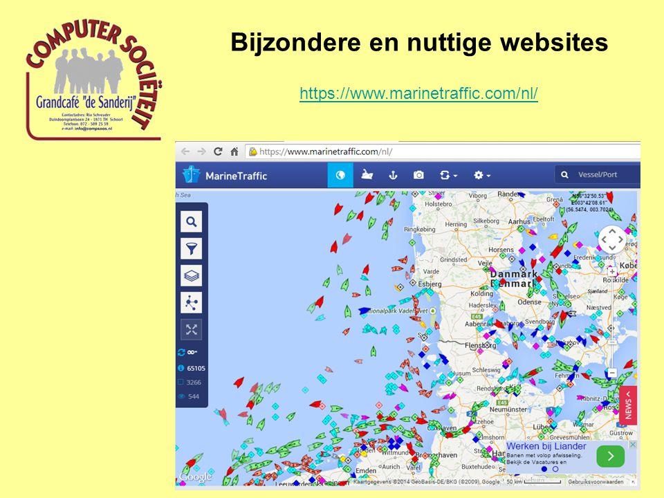 Bijzondere en nuttige websites https://www.marinetraffic.com/nl/