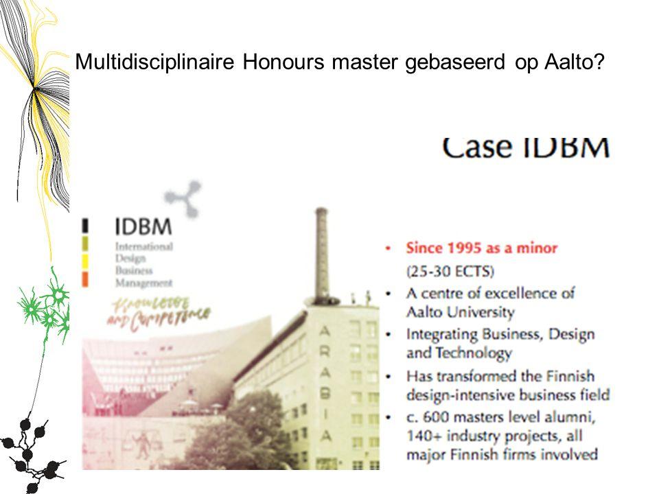 Multidisciplinaire Honours master gebaseerd op Aalto