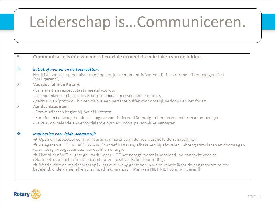 TITLE | 5 Leiderschap is…Communiceren.