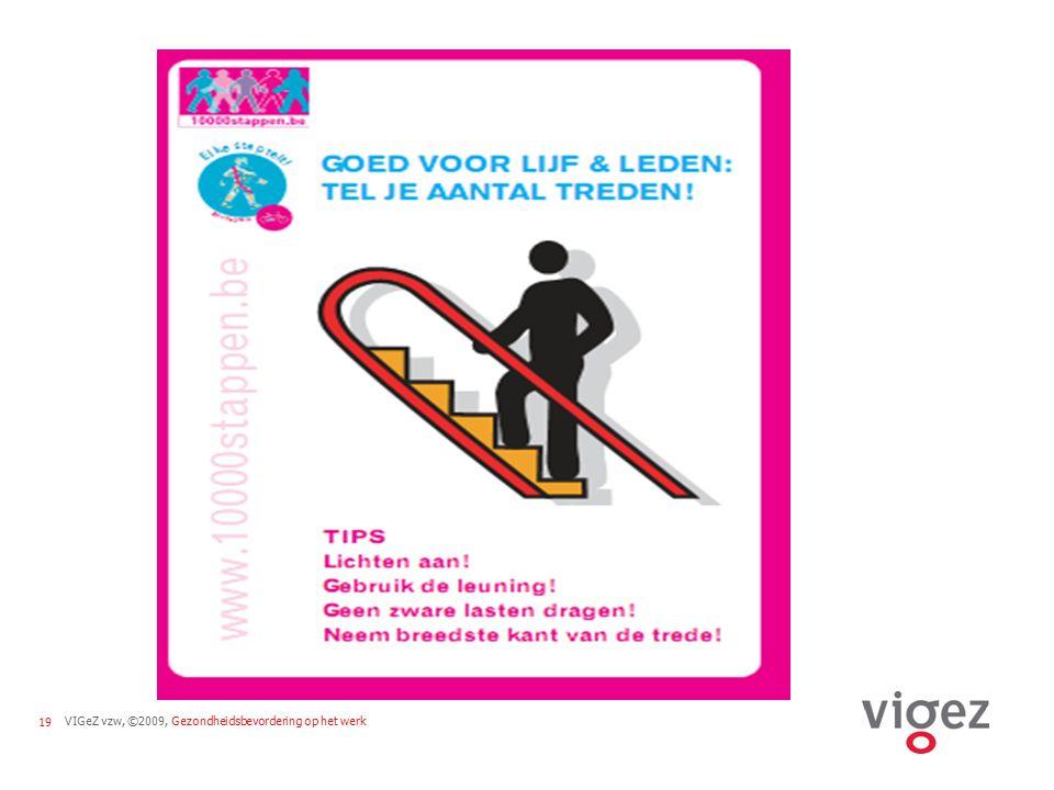VIGeZ vzw, ©2009, Gezondheidsbevordering op het werk19