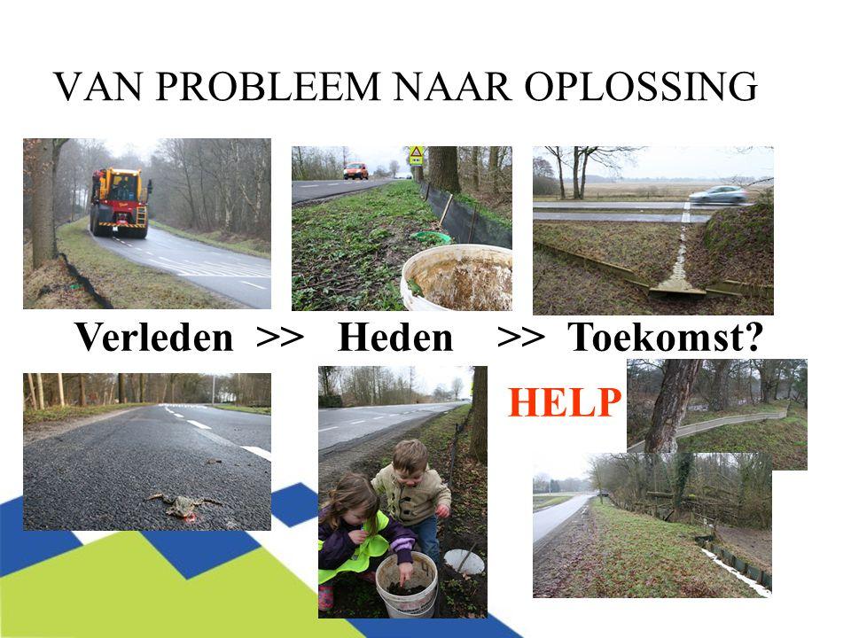 VAN PROBLEEM NAAR OPLOSSING Verleden >> Heden >> Toekomst HELP