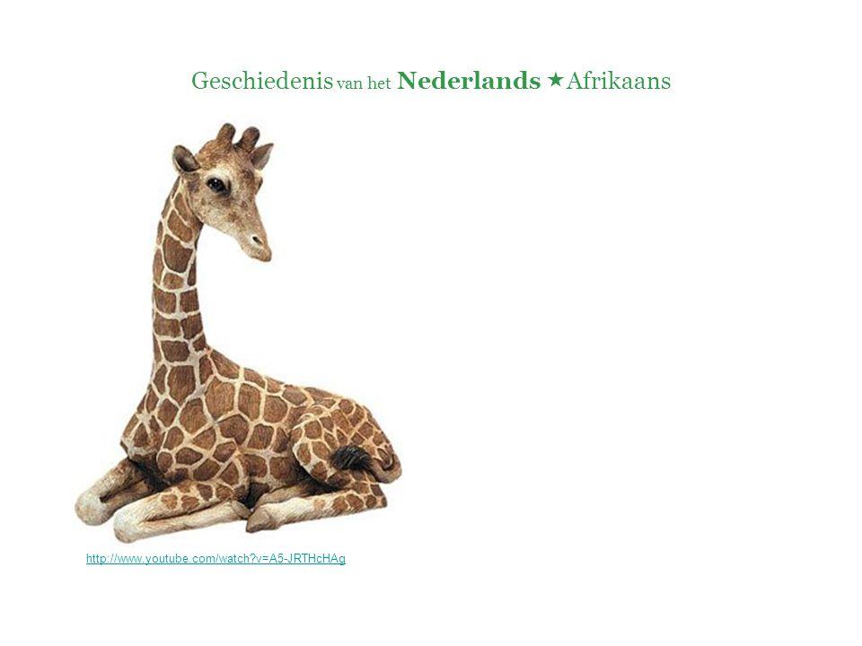 Geschiedenis van het Nederlands  Afrikaans http://www.youtube.com/watch?v=A5-JRTHcHAg