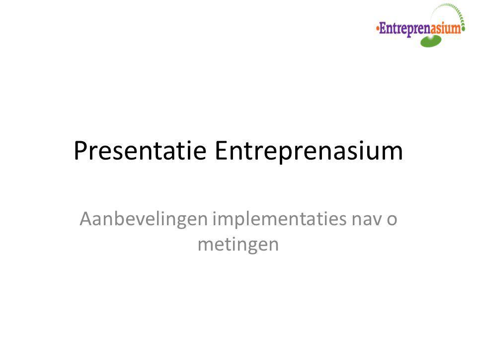 Presentatie Entreprenasium Aanbevelingen implementaties nav o metingen