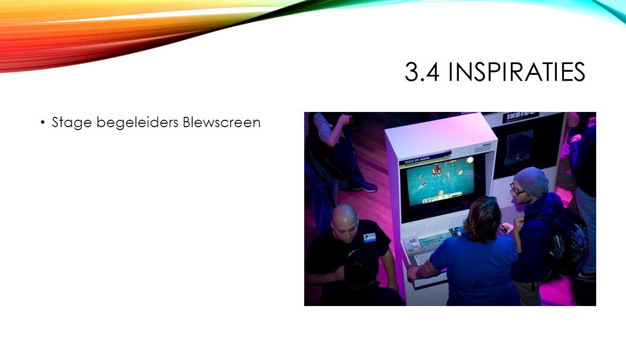 3.4 INSPIRATIES Stage begeleiders Blewscreen