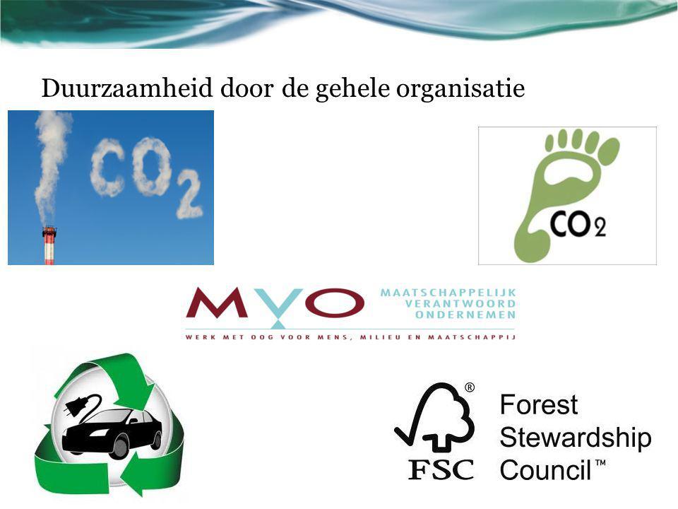 Duurzaamheid door de gehele organisatie