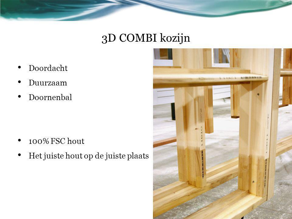 3D COMBI kozijn Doordacht Duurzaam Doornenbal 100% FSC hout Het juiste hout op de juiste plaats