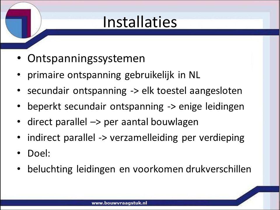 Ontspanningssystemen primaire ontspanning gebruikelijk in NL secundair ontspanning -> elk toestel aangesloten beperkt secundair ontspanning -> enige l