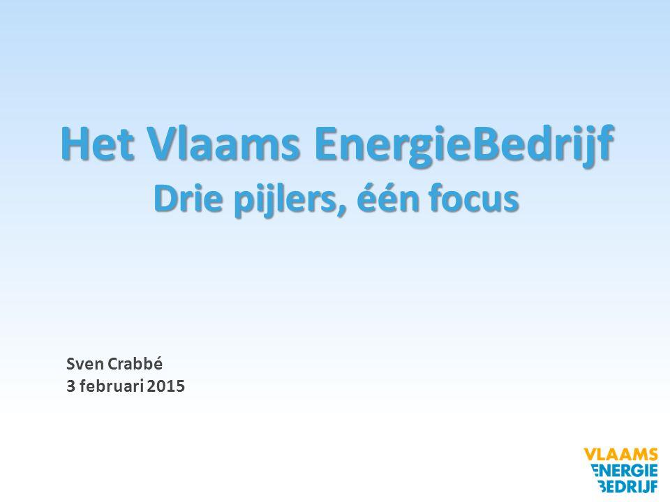 Sven Crabbé 3 februari 2015 Het Vlaams EnergieBedrijf Drie pijlers, één focus