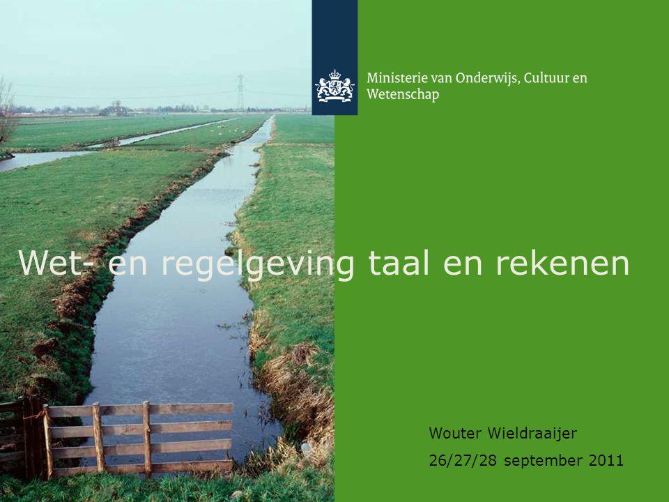 2 Agenda 1.Samenhang wet- en regelgeving 2. Wet referentieniveaus 3.
