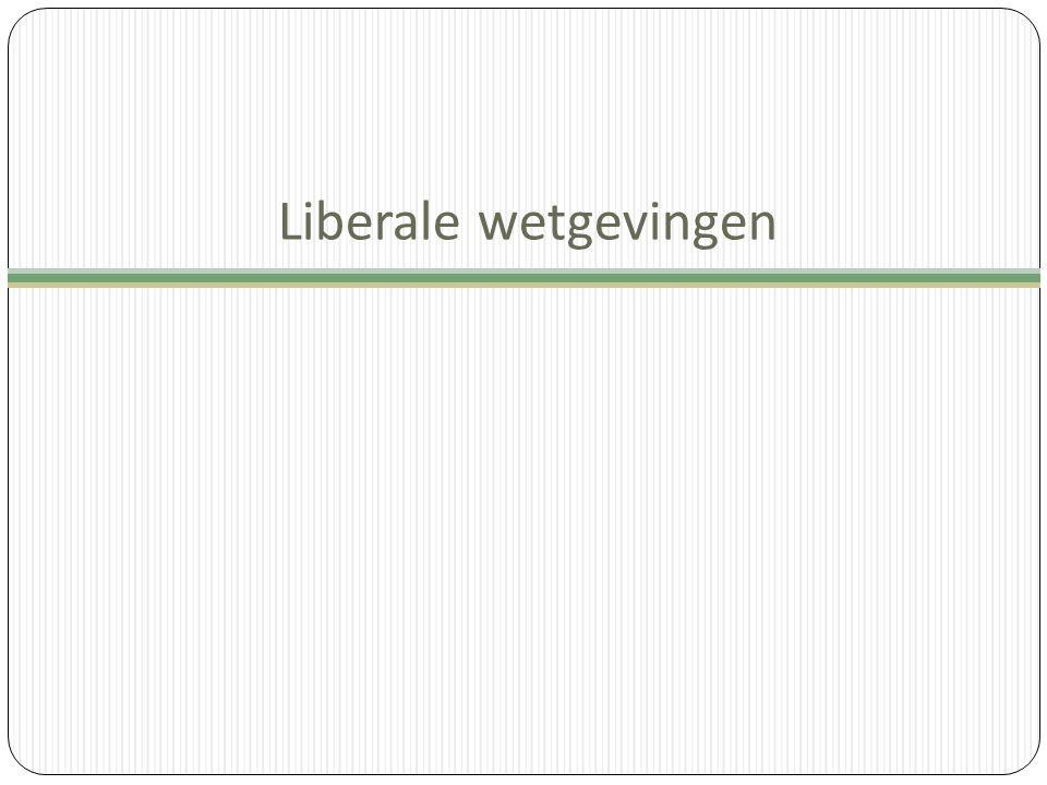 Liberale wetgevingen