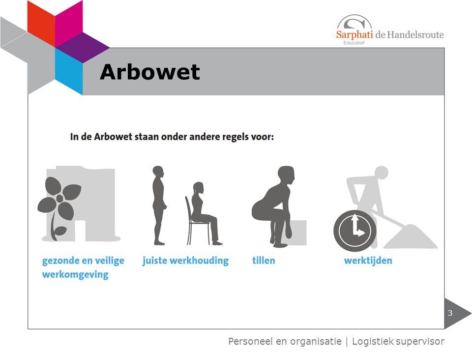 3 Personeel en organisatie | Logistiek supervisor Arbowet