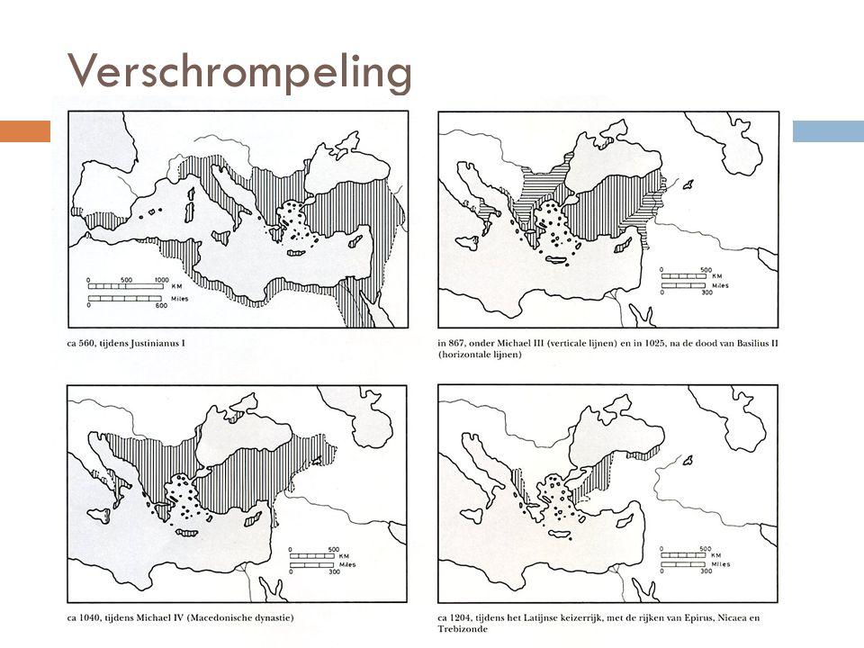  Hoe evolueerde het Byzantijnse rijk na de dood van Justinianus.