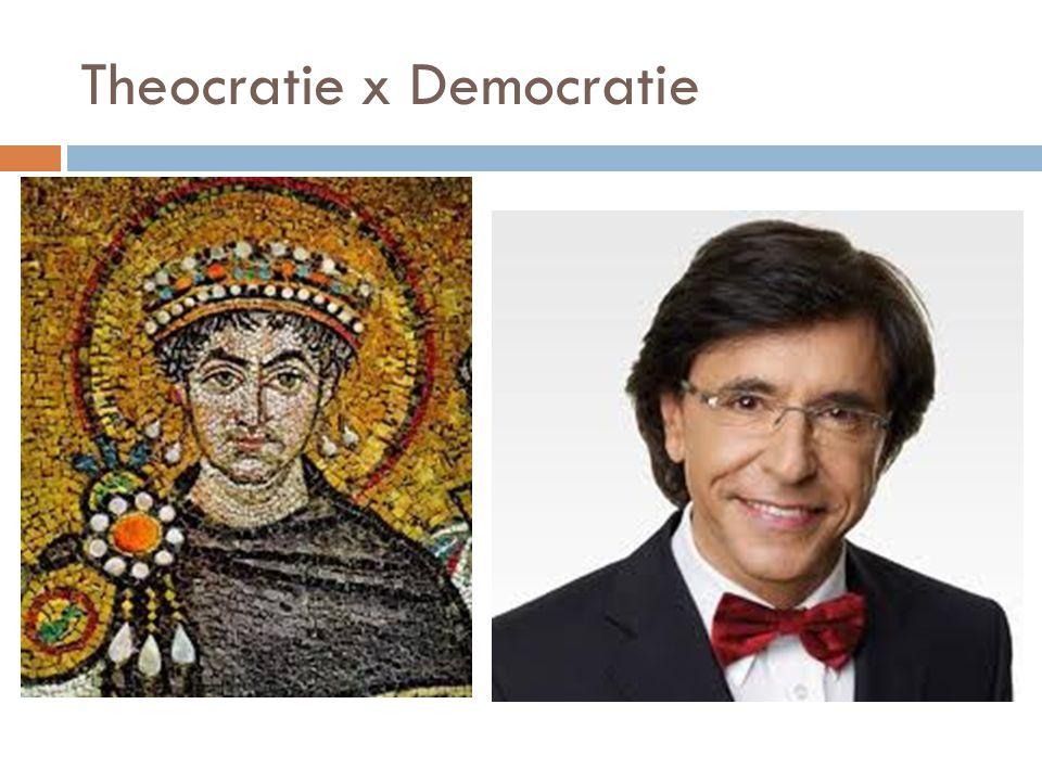 Theocratie x Democratie