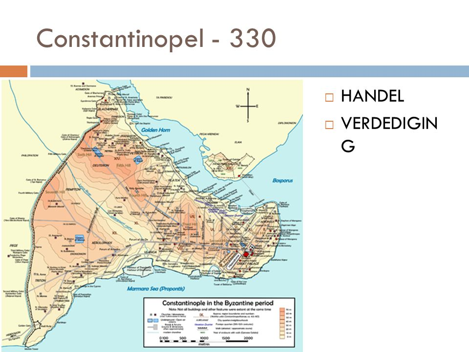 Constantinopel  Handel  Kruispunt van Europese landwegen naar Azië.