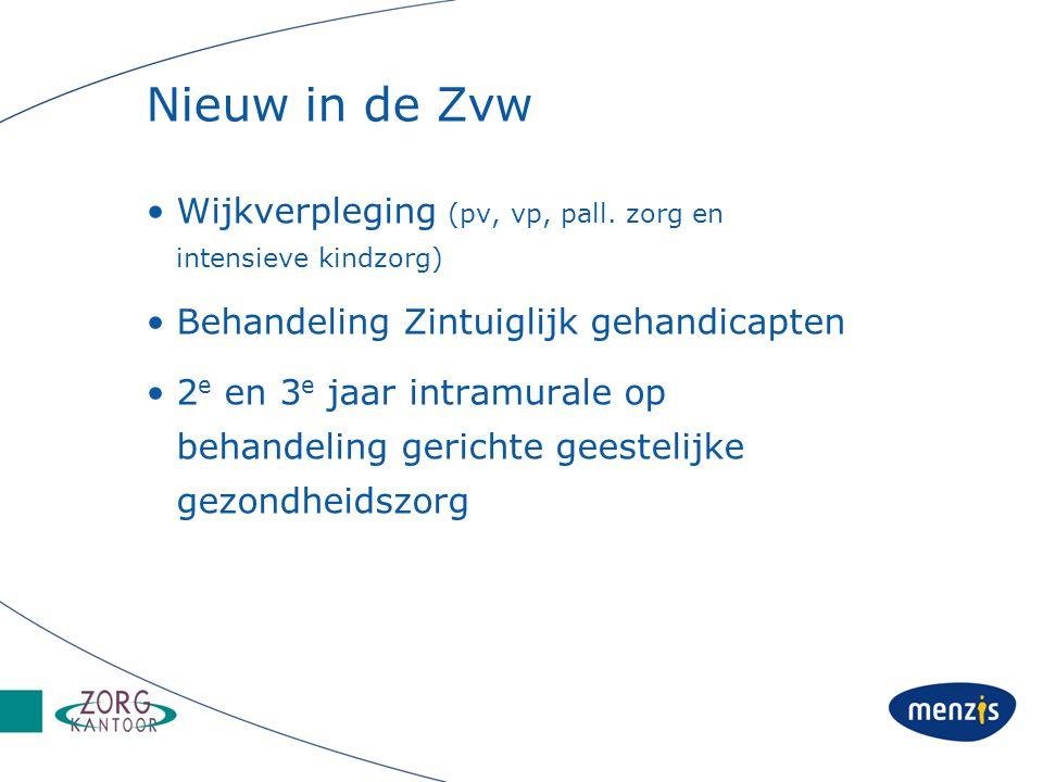 Nieuw in de Zvw Wijkverpleging (pv, vp, pall.